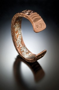 Andy Marion, untitled men's bracelet, copper.