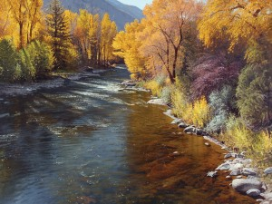 Jay Moore, Autumn Brilliance, oil, 60 x 80.