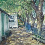 Guy Rose, San Gabriel Road, oil, 34 x 39, Bonhams.