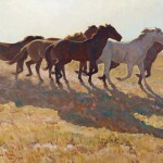 Maynard Dixon, Remuda, oil, 25 x 30, Jackson Hole Art Auction.