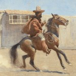 Maynard Dixon, Ranchero of Old California, watercolor 12 x 10, Coeur d'Alene Art Auction.