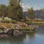 Dennis Doheny, End of Summer--Heart Lake, oil, 20 x 24, William A. Karges Fine Art.