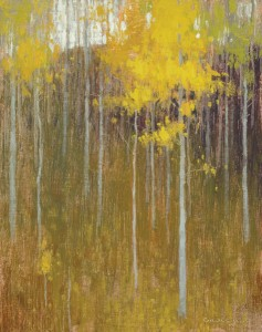 David Grossmann, Early October Hillside, oil, 10 x 8.