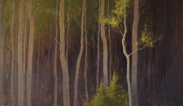 David Grossmann, Illuminate, oil, 20 x 34.