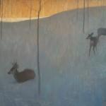 David Grossmann, In the Snow and Shadow, oil, 18 x 24.