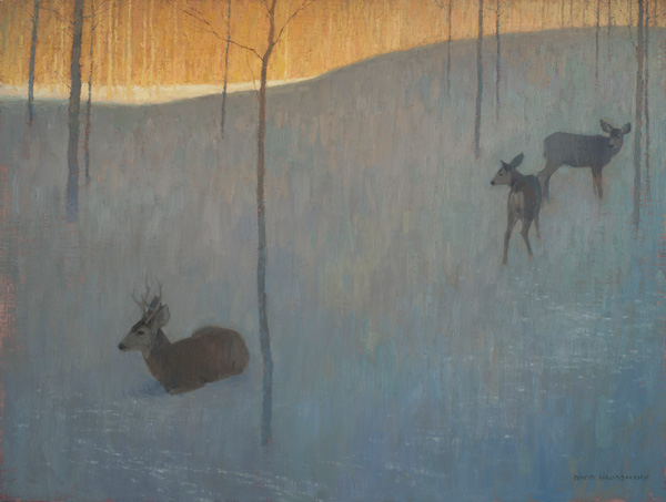 David Grossmann, In the Snow and Shadow, oil, 18 x 24.