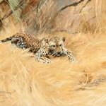 Wilhelm Kuhnert, Leopard, oil, 19 x 26, Jackson Hole Art Auction.