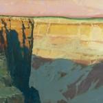 Len Chmiel, Abstrata, oil, 34 x 45.