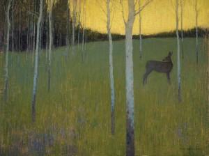 David Grossmann, Midsummer Dusk, oil, 18 x 24.