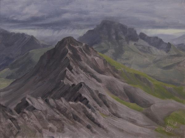 Dan Oakleaf, Matterhorn Ridge, oil, 12 x 16.
