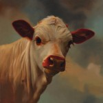 Teresa Elliott, Buck Eye Calf, oil, 12 x 12.