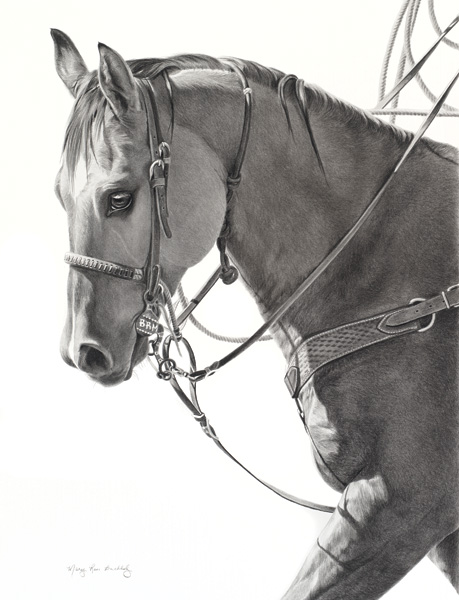 Mary Ross Buchholz, Warming Up, charcoal/graphite, 23 x 17.