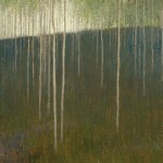David Grossmann, White Streaks, oil, 14 x 24.