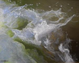 Dennis Joseph Yanoski, Free Foam, oil, 18 x 24.