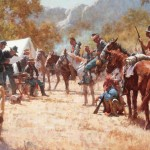 Howard Terpning, Major North and the Pawnee Battalion, oil, 36 x 58.