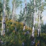 Aspen View, oil, 16 x 20.