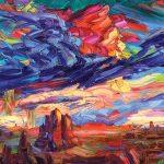 Greg Dye, Flying in a Blue Dream, oil, 48 x 60.