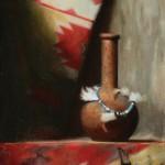 John Philbin Dolan, Southwest Vase, oil, 20 x 16.