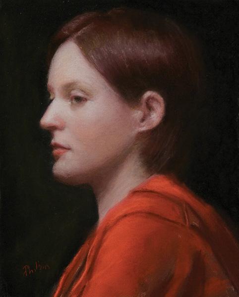 John Philbin Dolan, Janis, pastel, 10 x 8.
