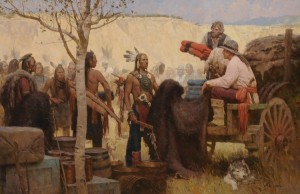 Z.S. Liang, Joe Kipp, Trader, Missouri River, 1879, oil, 44 x 68.