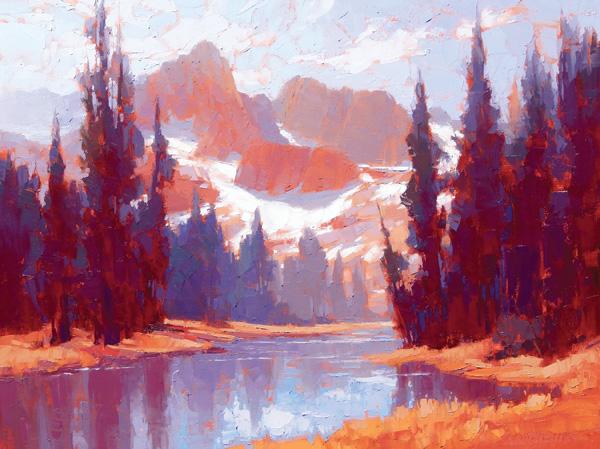 David Mensing, Sojourn, oil, 30 x 40.