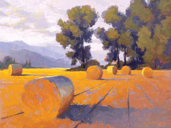 David Mensing, Still, oil, 48 x 64.