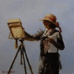 Pauline Roche, Plein Air, oil, 6 x 6.