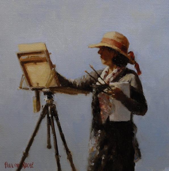 Pauline Roche, Plein Air, oil, 6 x 6.