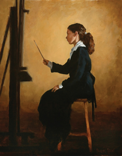 Pauline Roche, The Student, oil, 20 x 16.