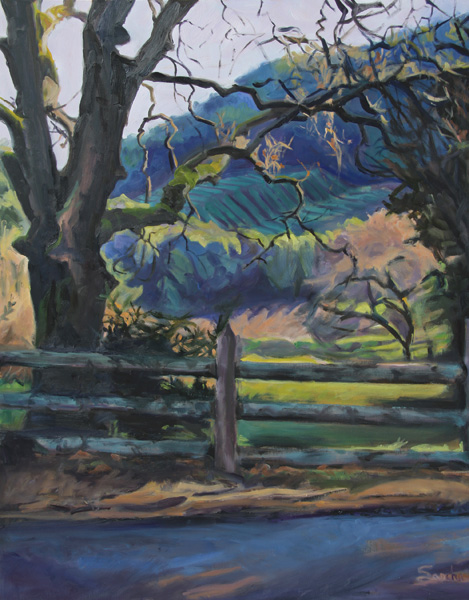 Sascha Ripps, The Highlights of Wine Country, oil, 30 x 24.