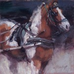 Jill Soukup, Carriage Horse Paint, oil, 8 x 8.