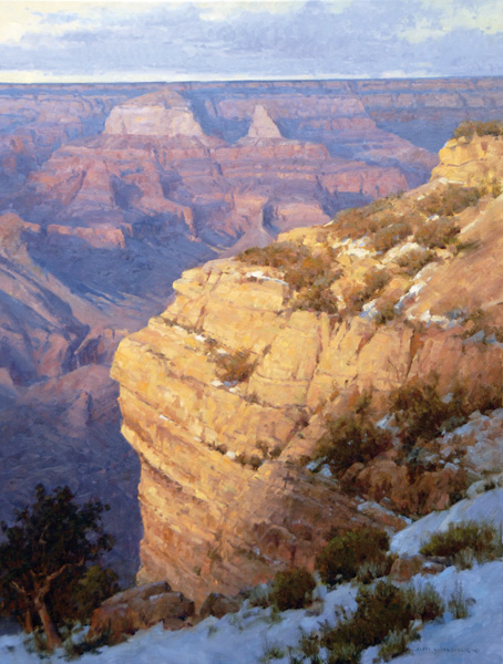 Jim Wilcox, First Snow on the South Rim, oil, 40 x 30 in