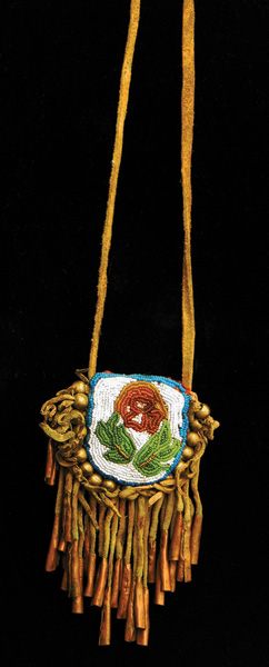 1880's Cree Beaded Courting Charm Pouch.