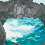 Georgia O'Keeffe, Black Lava Bridge, Hana Coast—No. 1, 1939, oil on canvas, 24 x 20, Honolulu Museum of Art. Gift of the Georgia O'Keeffe Foundation, 1994.