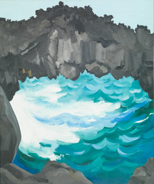 Georgia O'Keeffe, Black Lava Bridge, Hana Coast—No. 1, 1939, oil on canvas, 24 x 20, Honolulu Museum of Art. Gift of the Georgia O'Keeffe Foundation, 1994.