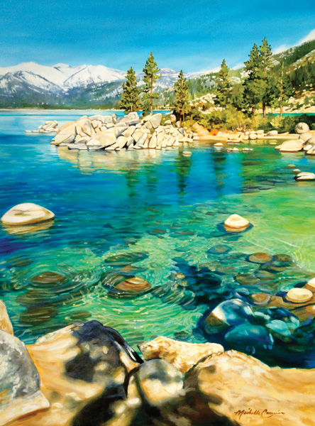 Michelle T. Courier, Lake Tahoe Sand Harbor 26, acrylic, 60 x 48.