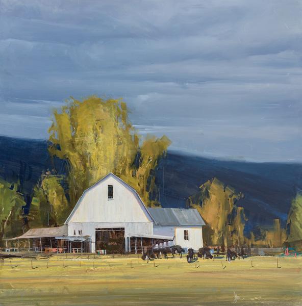 Josh Clare, White, oil, 48 x 48.