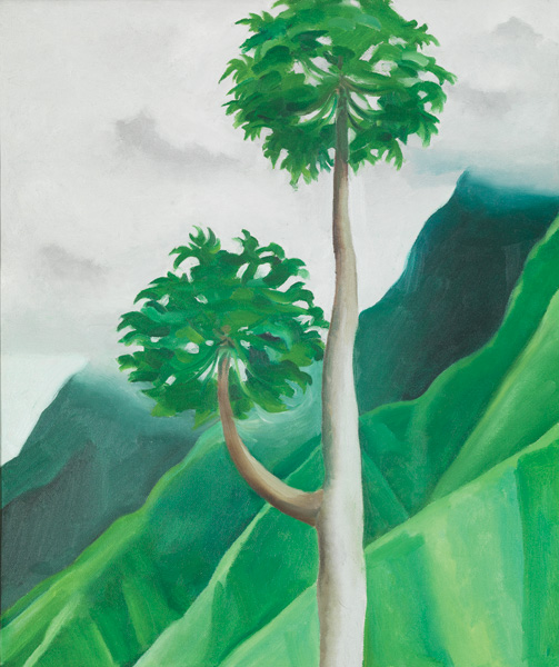 Georgia O'Keeffe, Papaya Tree—'Iao Valley—Maui, 1939, oil on canvas, 19 x 16, Honolulu Museum of Art. Gift of the Georgia O'Keeffe Foundation, 1994.