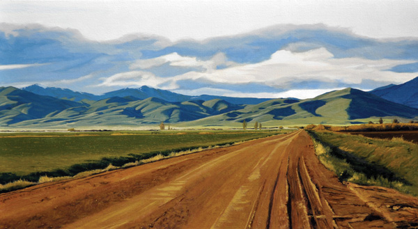 Neal Philpott, First Greening, oil, 22 x 40.