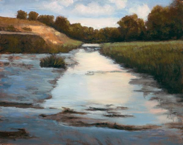 Keely Corona Smith, Rock Bottom Creek, oil, 16 x 20.