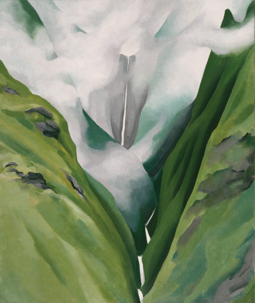 Georgia O'Keeffe, Waterfall—No. III—'Īao Valley, 1939, oil on canvas, 24 x 20, Honolulu Museum of Art. Gift of Susan Crawford Tracy, 1996.