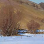 Josh Clare, Ochre, oil, 18 x 33.
