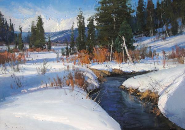 Josh Clare, Teton Pass, oil, 30 x 40.