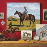 Jenness Cortez, Charlie's Horses, acrylic, 24 x 30.