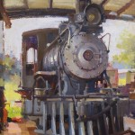 Hiu Lai Chong, All Aboard, oil, 18 x 14, last year's Best in Show winner.