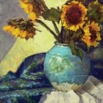 Robert MacPherson, Ruby's Vase With Sunflowers, oil, 18 x 14.