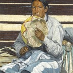 Walter Ufer, Indian Entertainer, oil, 30 x 25.