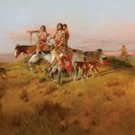 Charles M. Russell, Following the Buffalo Run, oil, 23 x 35. Estimate: $1,250,000-$1,750,000.