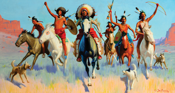 Gerard Curtis Delano, The Victors, oil, 21 x 39. Estimate: $375,000-$475,000.
