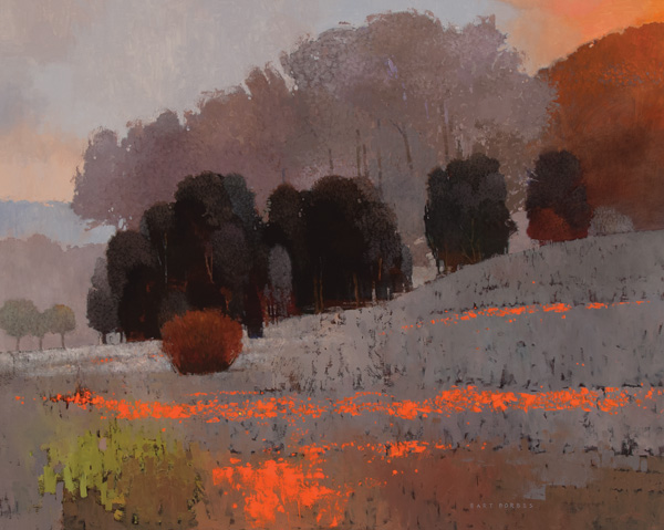 Bart Forbes, First Light, oil, 48 x 60.